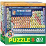 Puzzle  Eurographics-6200-0725 Illustriertes Periodensystem der Elemente