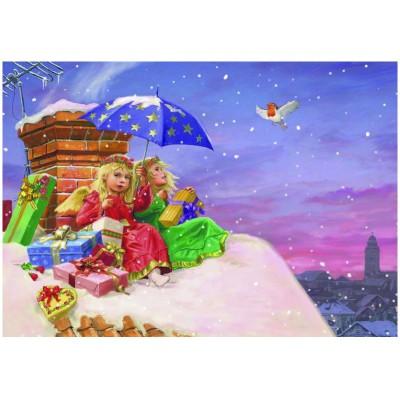 Puzzle Eurographics-6500-0351 Engel auf dem Dach