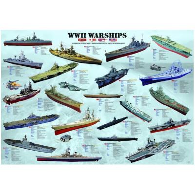 Puzzle Eurographics-8000-0133 Kriegsschiffe des 2. Weltkrieges