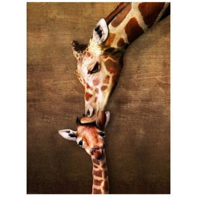 Puzzle Eurographics-8000-0301 Der Kuss der Giraffe Mutter