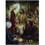 Puzzle  Eurographics-8000-0343 Nathan Greene: Zu Füßen Jesus