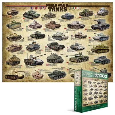 Puzzle Eurographics-8000-0562 Panzer des zweiten Weltkrieges