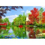 Puzzle  Eurographics-8000-0696 Dominic Davison: Reflexionen auf dem See