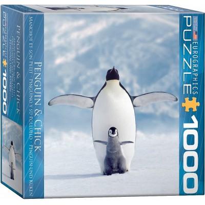 Puzzle Eurographics-8000-1246 Penguin und Küken