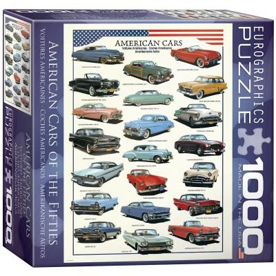 Puzzle Eurographics-8000-3870 Amerikanische Autos