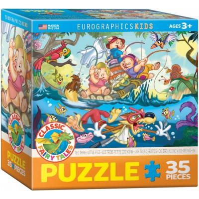 Puzzle Eurographics-8035-0423 Die drei kleinen Schweine