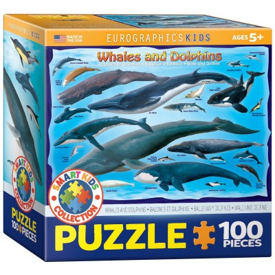 Puzzle Eurographics-8100-0082 Wale und Delfine
