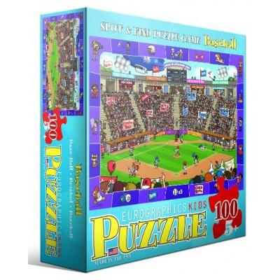 Puzzle Eurographics-8100-0473 Suche und Finde: Baseball