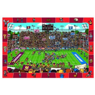 Puzzle Eurographics-8100-0474 Suche und Finde: Amerikanischer Fußball