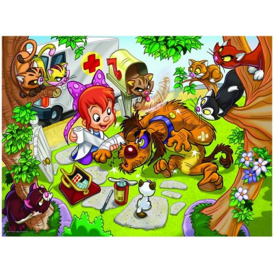 Puzzle Eurographics-8100-0522 Girl Power - Veterinärin
