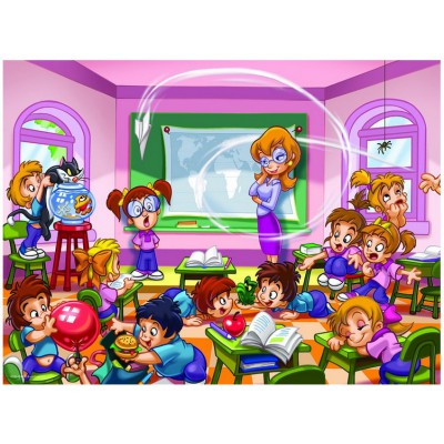 Puzzle Eurographics-8100-0569 Girl Power -Die Lehrerin