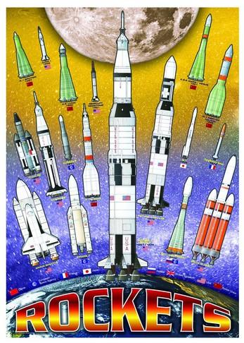 Puzzle Eurographics-8100-1015 NASA Rakete