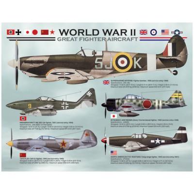 Puzzle Eurographics-8104-0559 Flugzeuge aus dem Zweiten Weltkrieg
