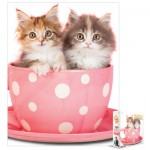 Puzzle  Eurographics-8104-0619 Kätzchen in einer Tasse