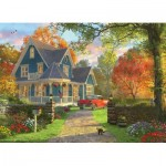 Eurographics-8300-0978 XXL Teile - Familiy Puzzle: Dominic Davison - The Blue Country House
