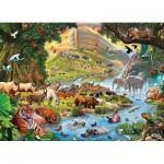Eurographics-8300-0980 XXL Teile - Familiy Puzzle: Steve Crisp - Noah's Ark Before the Rain