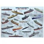 Puzzle  Eurographics-8500-0133 Kriegsschiffe des 2. Weltkrieges