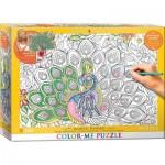 Puzzle   XXL Color Me - Majestätisch Federn