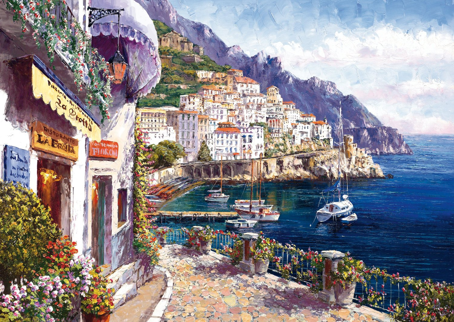 amalfi am nachmittag sam park 2000 teile querformat puzzle schmidt spiele puzzle online kaufen. Black Bedroom Furniture Sets. Home Design Ideas