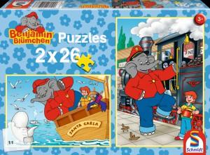 Puzzle Schmidt-Spiele-55278 Auf See/ Als Lokomotivführer