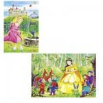 Schmidt-Spiele-55509 2 x 26 Teile Puzzle - Im Märchenland