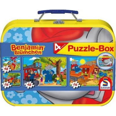 Schmidt-Spiele-55594 Puzzle-Box im Metallkoffer