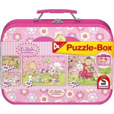 Schmidt-Spiele-55598 Puzzle-Box im Metallkoffer