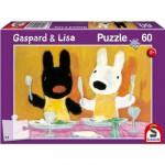 Puzzle  Schmidt-Spiele-55608 Gaspard und Lisa: Guten Appetit !