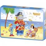 Puzzle  Schmidt-Spiele-55886 Benjamin Blümchen: Benjamin als Pirat