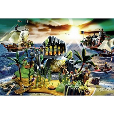 Puzzle Schmidt-Spiele-56020 Playmobil: Pirateninsel