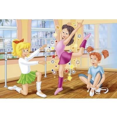 Puzzle Schmidt-Spiele-56025 Bibi und Tina: Tanzschule