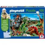 Puzzle  Schmidt-Spiele-56042 Playmobil: Im Dinoland