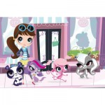 Puzzle  Schmidt-spiele-56061 Littlest Pet Shop, Einkaufsbummel