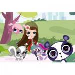 Puzzle  Schmidt-Spiele-56062 Littlest Pet Shop, Spaziergang im Park