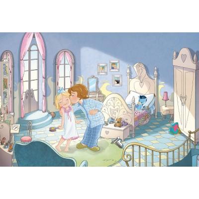 Puzzle Schmidt-spiele-56073 Prinzessin Emmy im Schloss