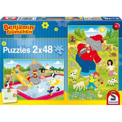 Puzzle Schmidt-Spiele-56077 Sommerzeit