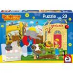 Puzzle  Schmidt-Spiele-56088 Benjamin Blümchen auf der Baustelle