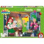 Puzzle  Schmidt-Spiele-56089 Bibi Blocksberg im Hexenlabor