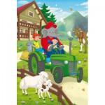 Schmidt-Spiele-56096 2 Puzzles - Benjamin Blümchen in Aktion