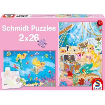 Puzzle Schmidt-Spiele-56113 Die kleine Meerjungfrau