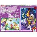 Puzzle  Schmidt-Spiele-56114 7 ½ Drachen