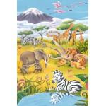 Puzzle  Schmidt-Spiele-56115 Tiere der Savanne