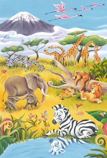 Puzzle Schmidt-Spiele-56115 Savannentiere
