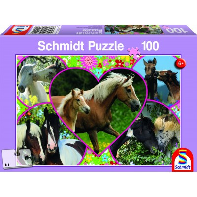 Puzzle Schmidt-Spiele-56122 Pferdeliebe