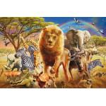 Puzzle  Schmidt-Spiele-56124 Afrikanische Tierwelt