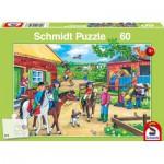 Puzzle  Schmidt-Spiele-56127 Ferien auf dem Reiterhof