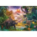 Puzzle  Schmidt-Spiele-56129 Das Tal der Dinosaurier