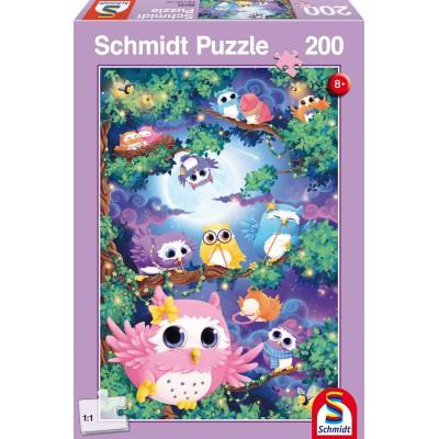Puzzle Schmidt-Spiele-56131 Im Eulenwald
