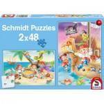 Puzzle  Schmidt-Spiele-56133 Piratenbande
