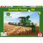 Puzzle  Schmidt-Spiele-56144 John Deere, Mähdrescher S690
